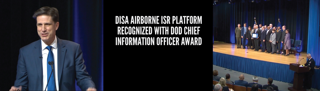 DISA airborne ISR platform team recognized by DOD Chief Information Officer