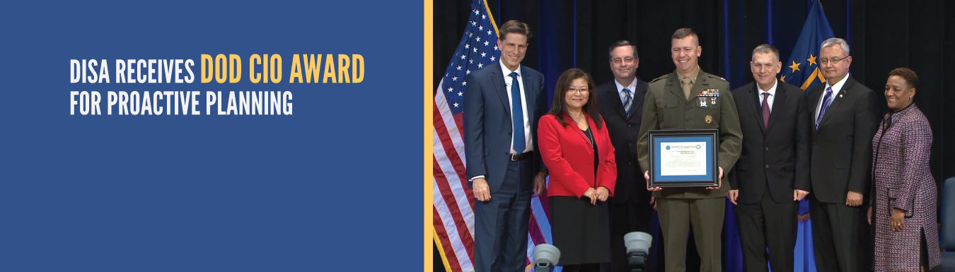 DISA receives DOD CIO Award for proactive planning